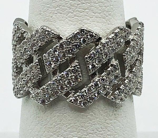 Thick Band Brick Ring
