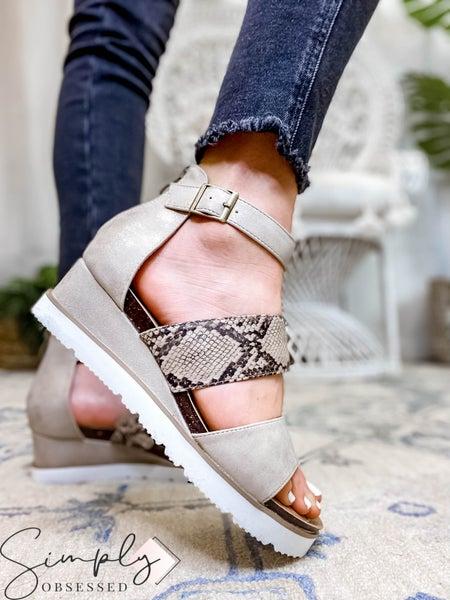 Corkys - Heeled Sandal W/ Ankle Strap