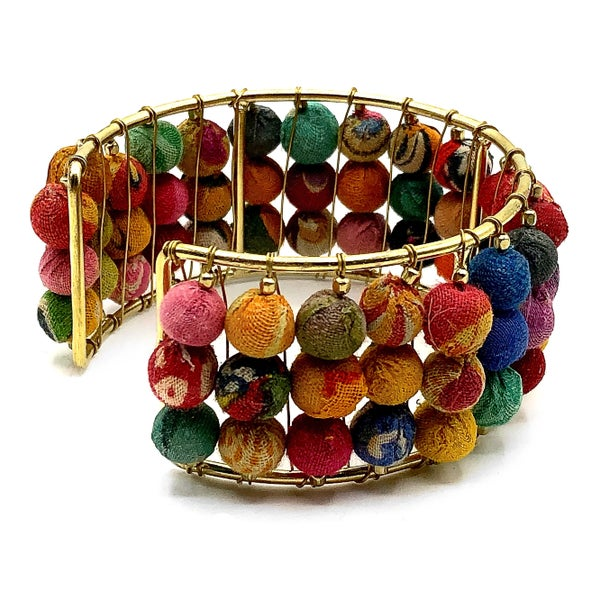 WORLD FINDS - Stacked Gold Bohemian Cuff Bracelet