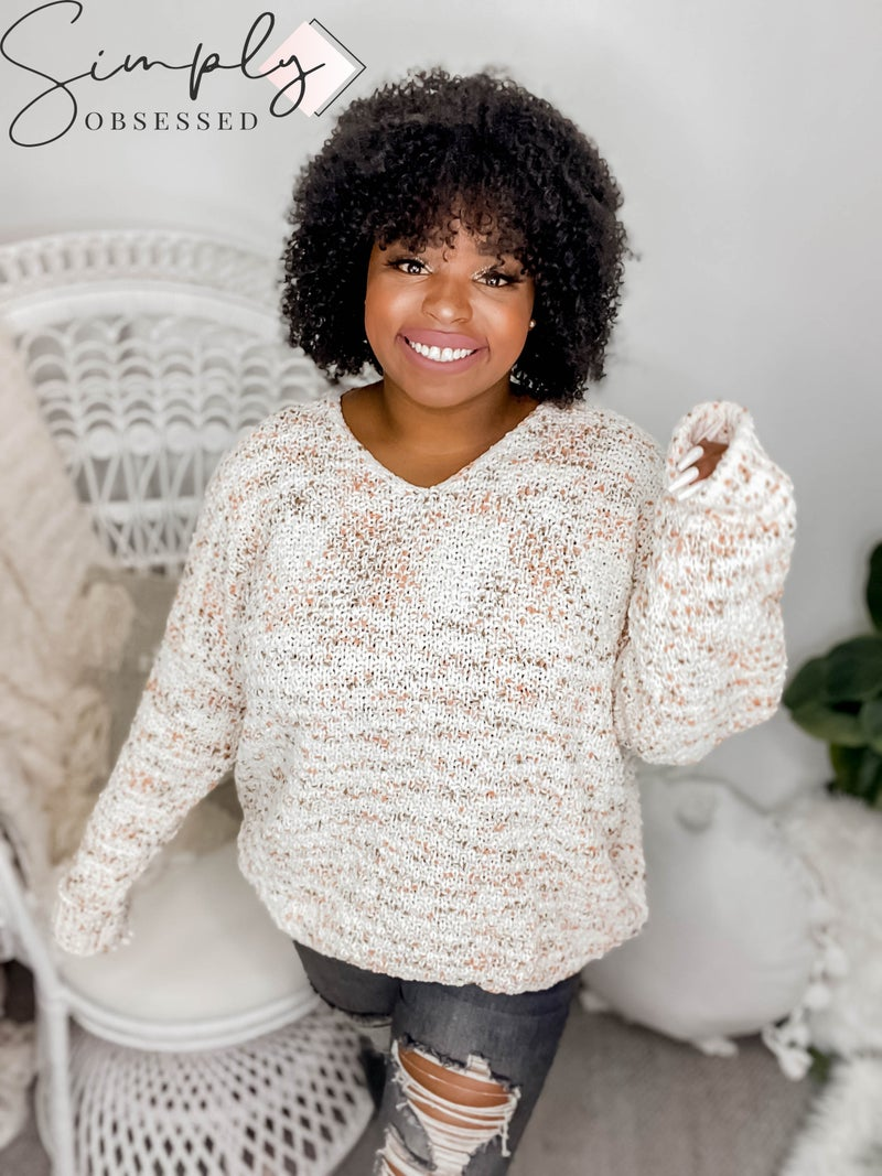 White Birch - Long sleeve thick knit sweater(All Sizes)