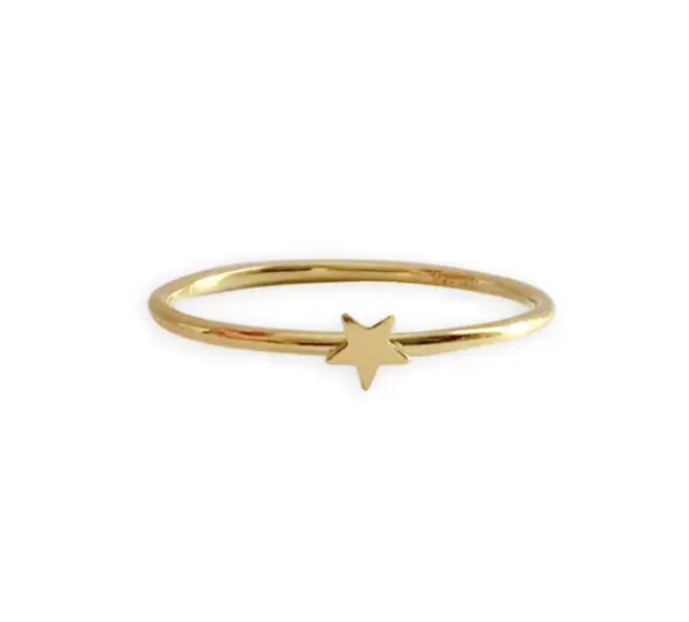 Gold Plated Star Ring