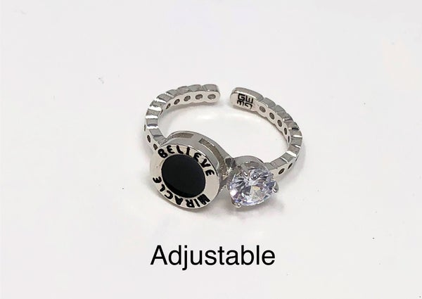 Good Works - adjustable engraved ring.