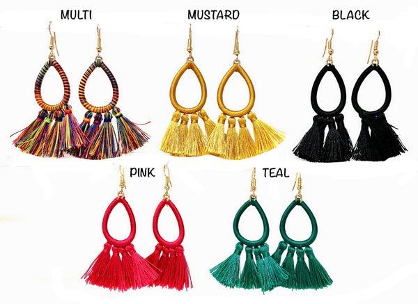 Colorful Summer Fringe Earrings