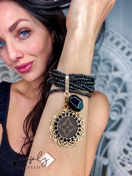 UpCycled - Black Multi Layer Beaded Bracelet