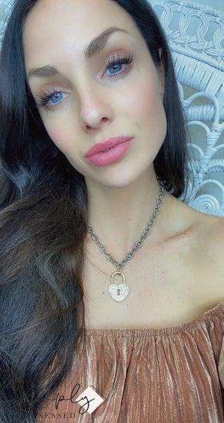 CV - Heart Lock Drop Necklace
