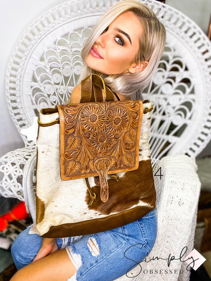 American Darling - Hand crafted leather work back pack