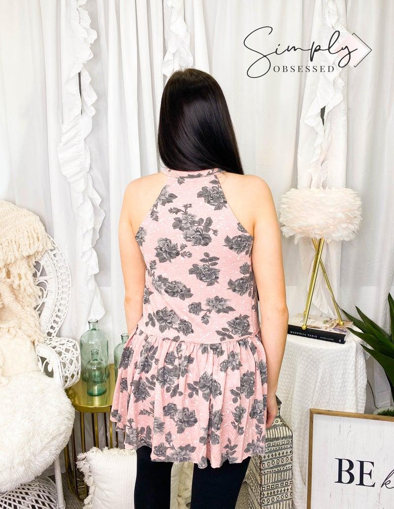 Wishlist - Sleeveless high neck floral dress