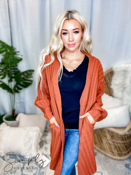 Blue Buttercup - Knit Cardigan with Side Pockets