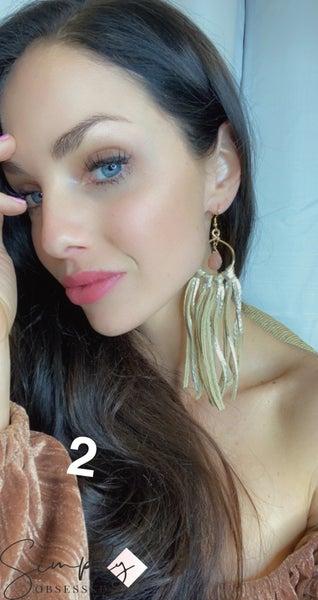 Emerge Mandy Fringe Earring with Stone