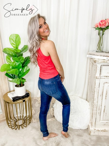 Judy Blue - Mid rise skinny jeans(plus)