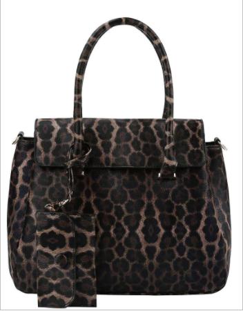 Virago - 2 in 1 leopard print satchel