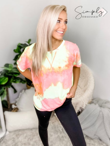 KORI AMERICA-Multi Color Tie Dye T-Shirt