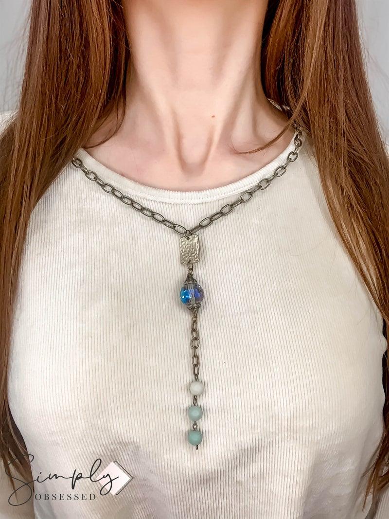 TPJ - Long Chain w/ Brass Bead Detail Necklace