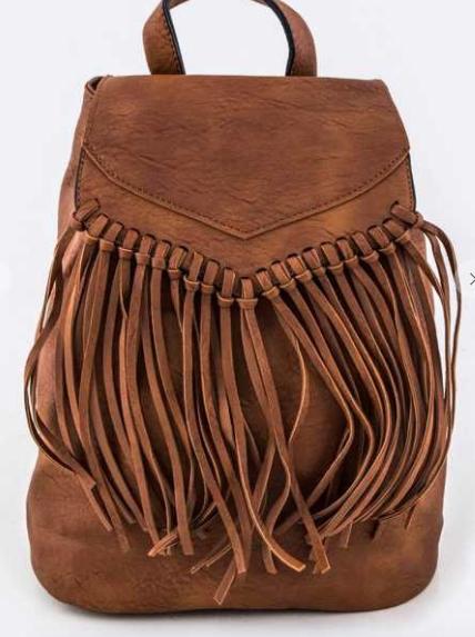 Artini Accessories - Fringe faux leather bag