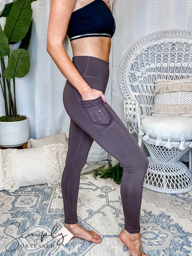 Mono B - Overlay Mesh Pocket High Waist Leggings