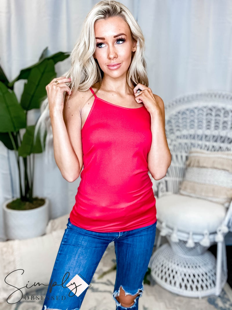 Seamless adjustable strap cami top(All Sizes)