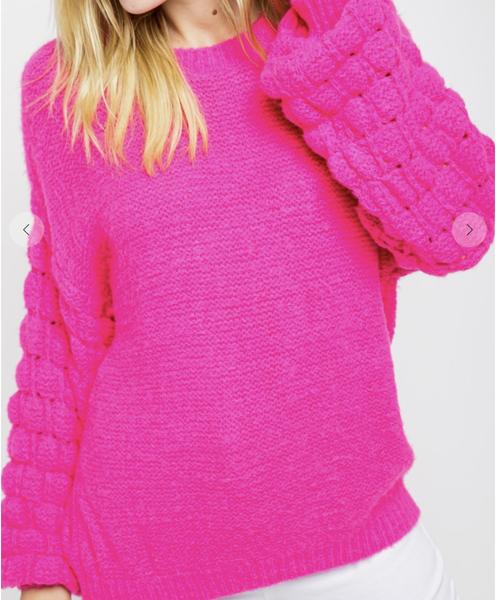 &merci - Textured bubble sleeve sweater