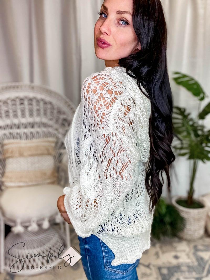 Pol - Lightweight Weaved Sweater Drawstring Hood and Kangaroo Pocket