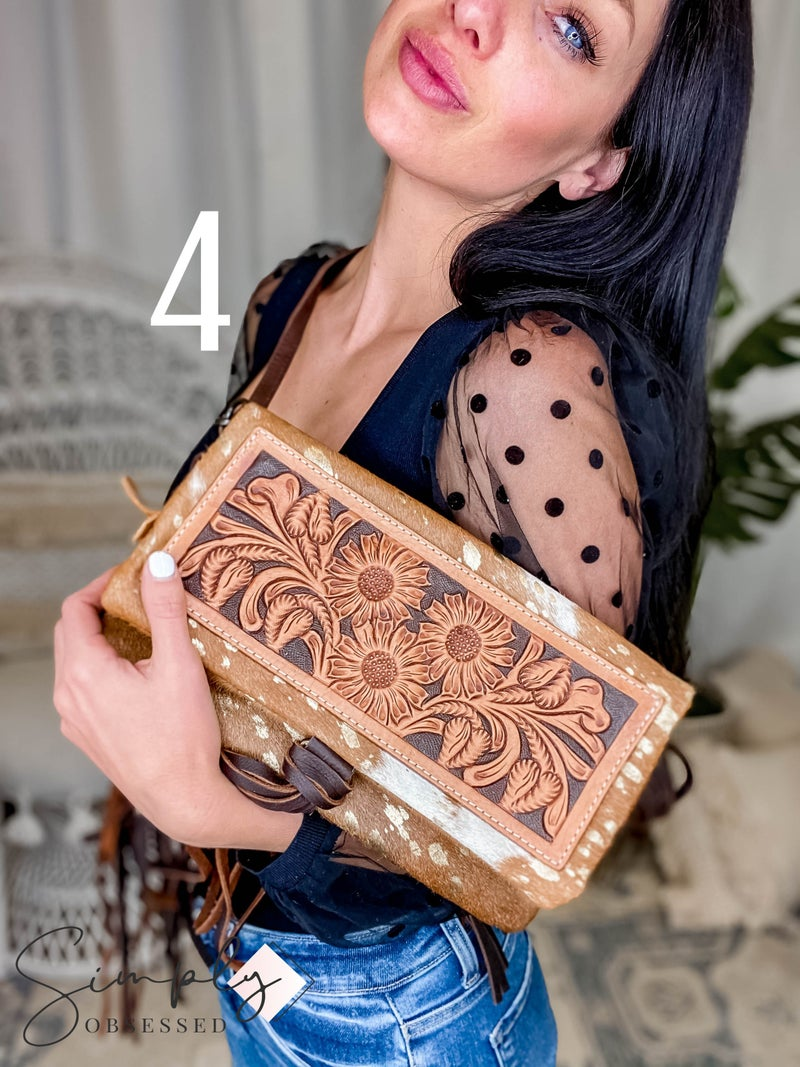 American Darling - Genuine Leather Crossbody w/Tassel & Fringe Detail