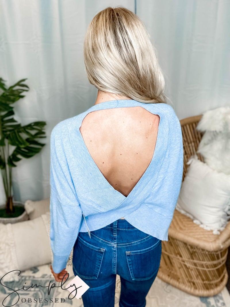 EE:Some - Open Twist Back Sweater