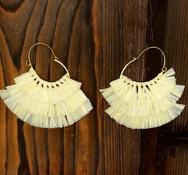 WORLD FINDS - Triple Layered Hinged Back Earrings