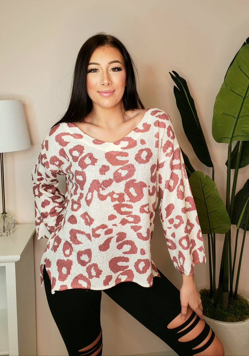 POL - Long sleeve sweater knit top