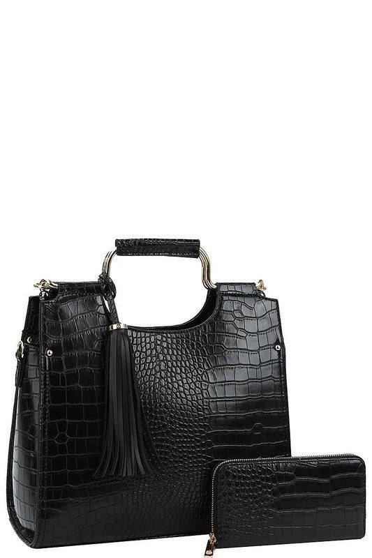 Melrose Styles - 2 in 1 satchel with matching wallet