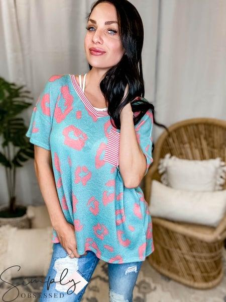 Honeyme SLC Pre-Sale - Short sleeve oversized top w/ pocket
