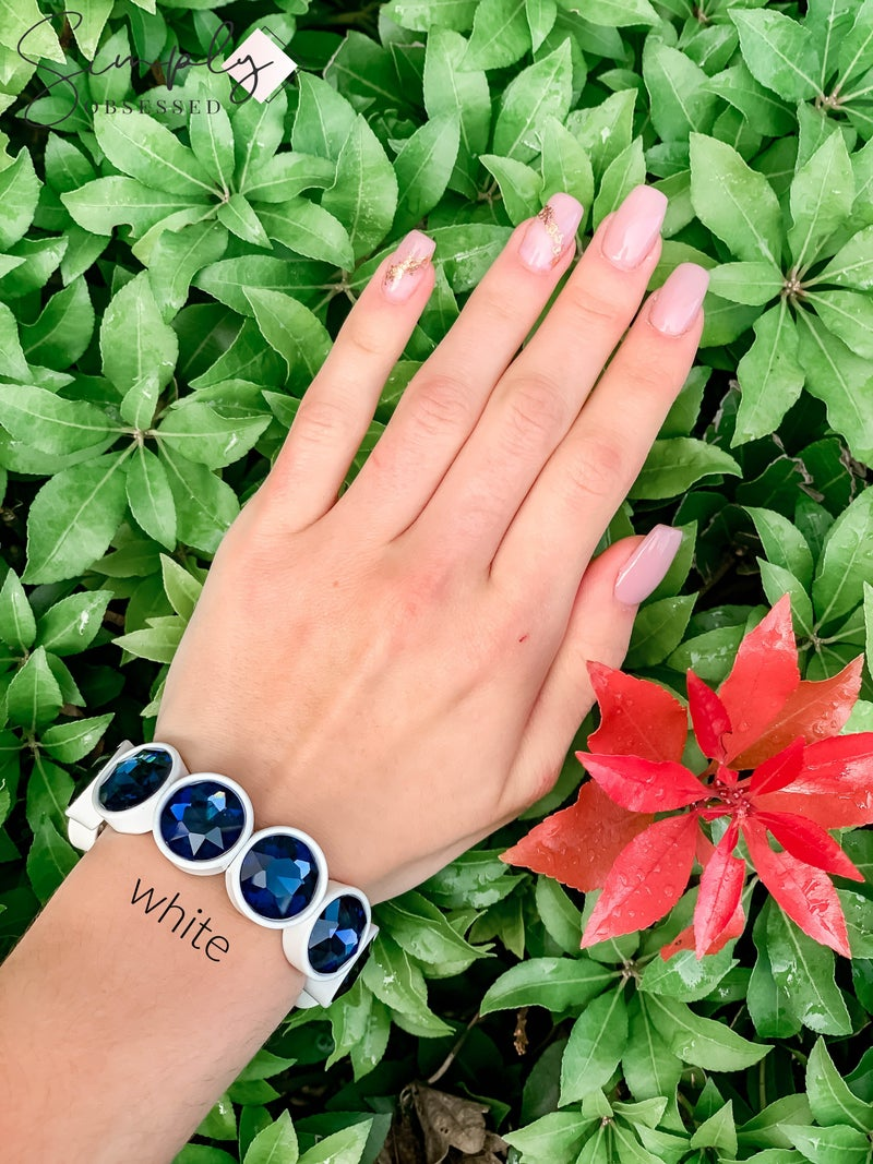 NYJ - Large Stretch Gem Bracelet