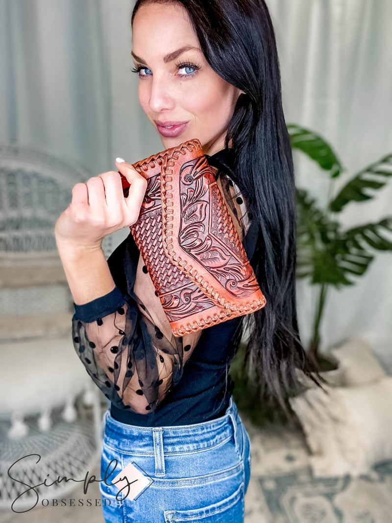 American Darling- Leather Tooled Wallet