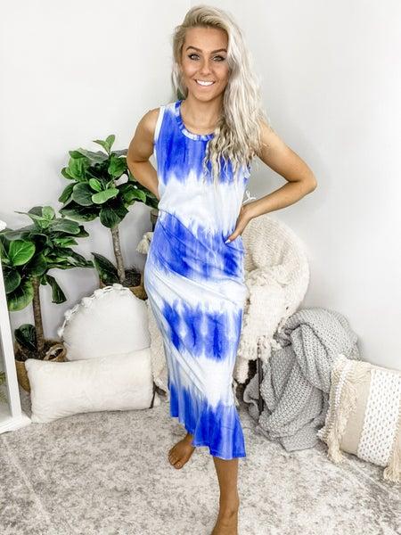 La Miel -Tie dye Tank Sleeveless Dress