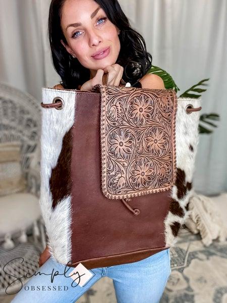 American Darling - Genuine Leather Hide Backpack