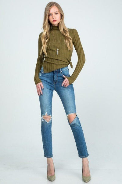 Special A - High rise skinny with destroy