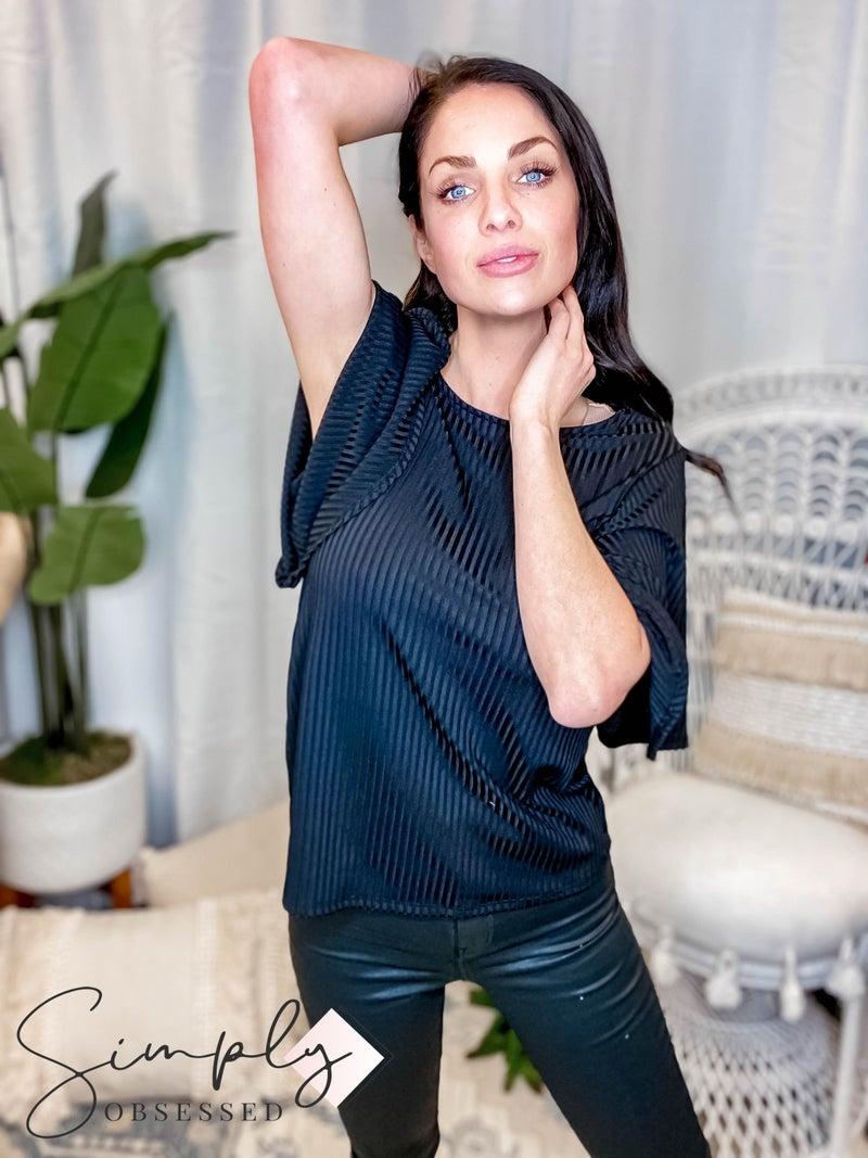 CY Fashion - Flare Sleeve Half Sleeve Top
