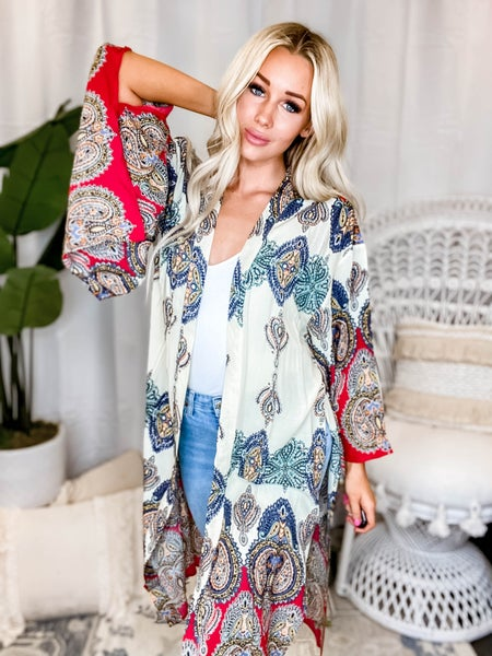 Kori - Bulgari print long sleeve cardigan