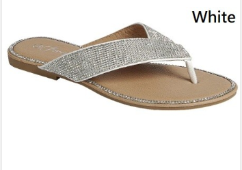 Forever - Sequined low heel thong sandal