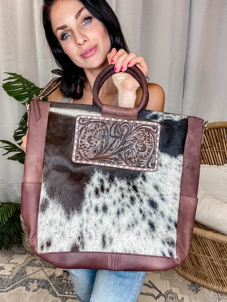 American Darling - Cowhide Bag w/Genuine Leather Patch