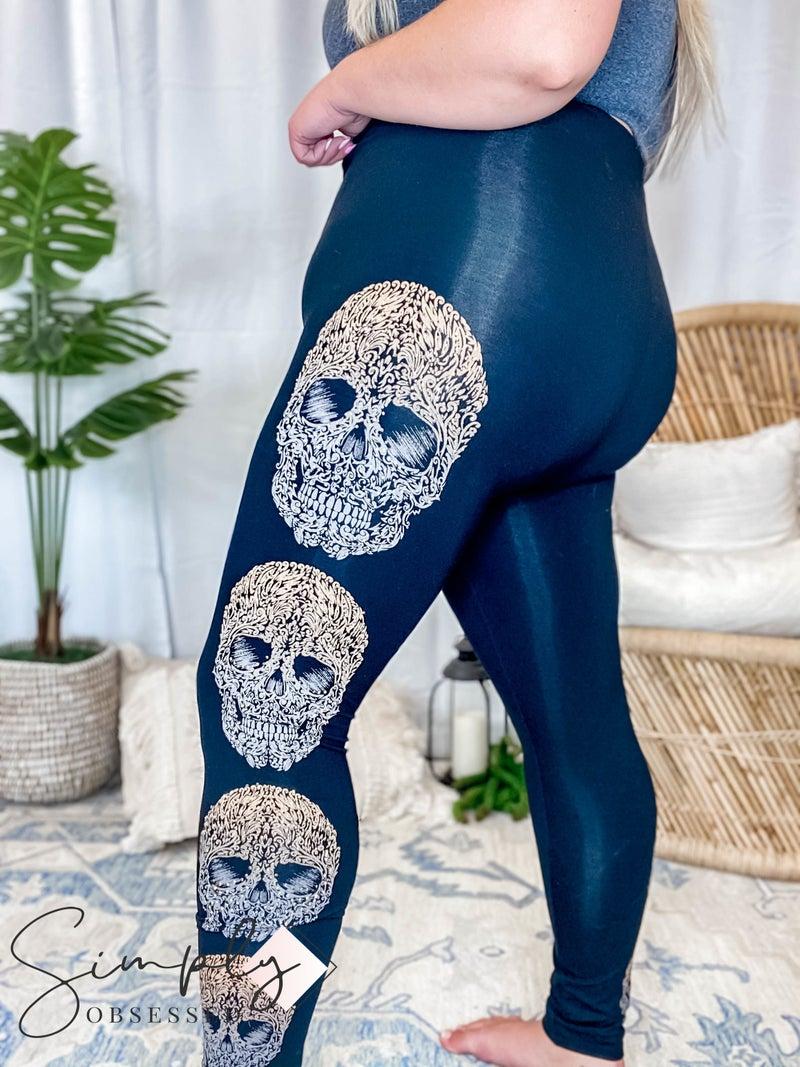 Vocal First Dibs LA - Leggings Skull Head Embellished w/ Rhinestones (PLUS)