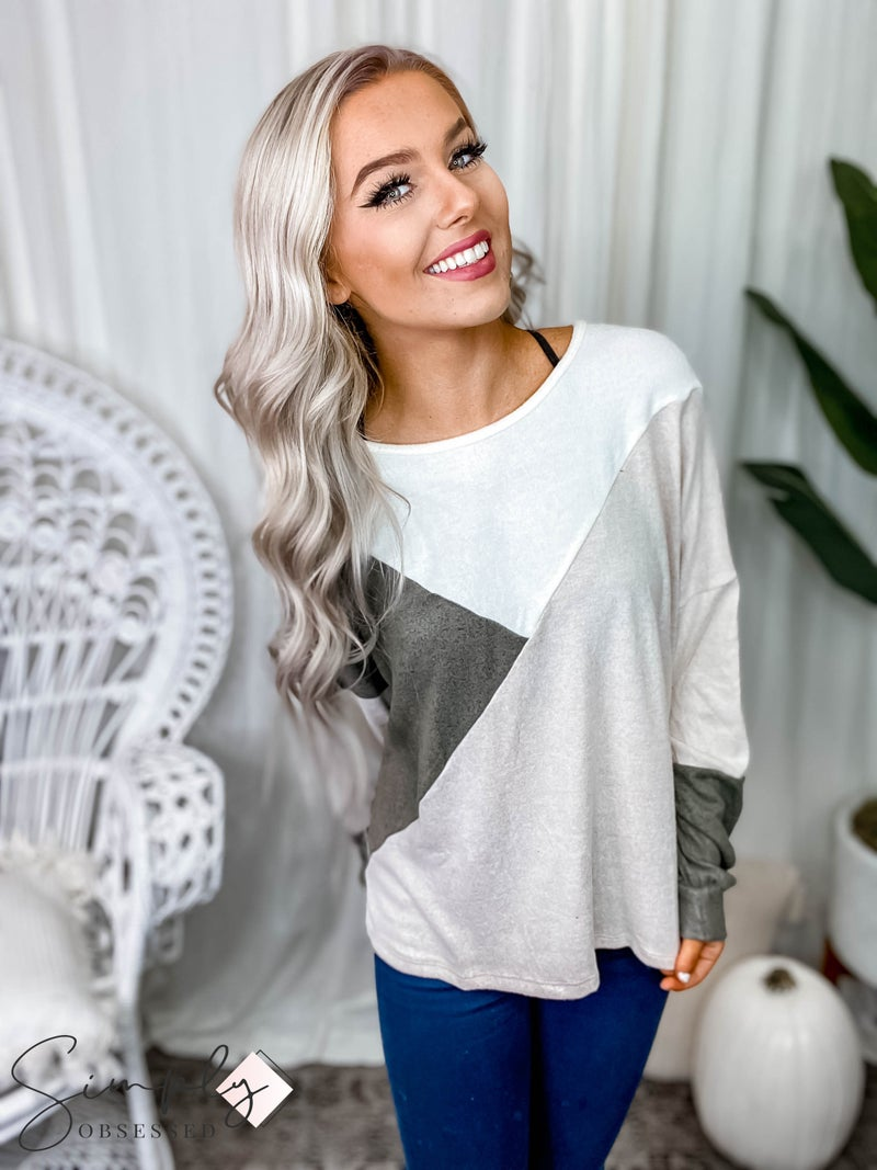 P.S. Kate - Colorblocked transition sweater