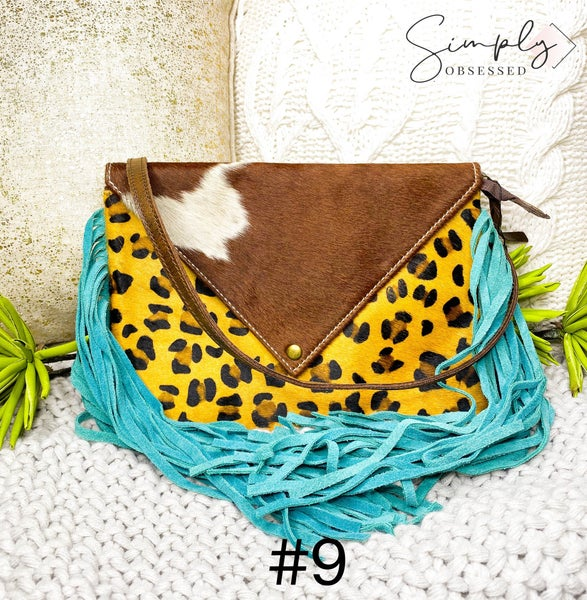 American Darling - Leopard print tassel detail cross body bag