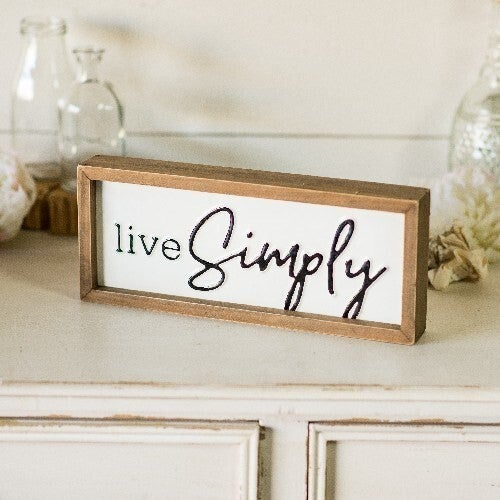 "VIP ATL - DOORBUSTER ""LIVE SIMPLY"" wood Sign"