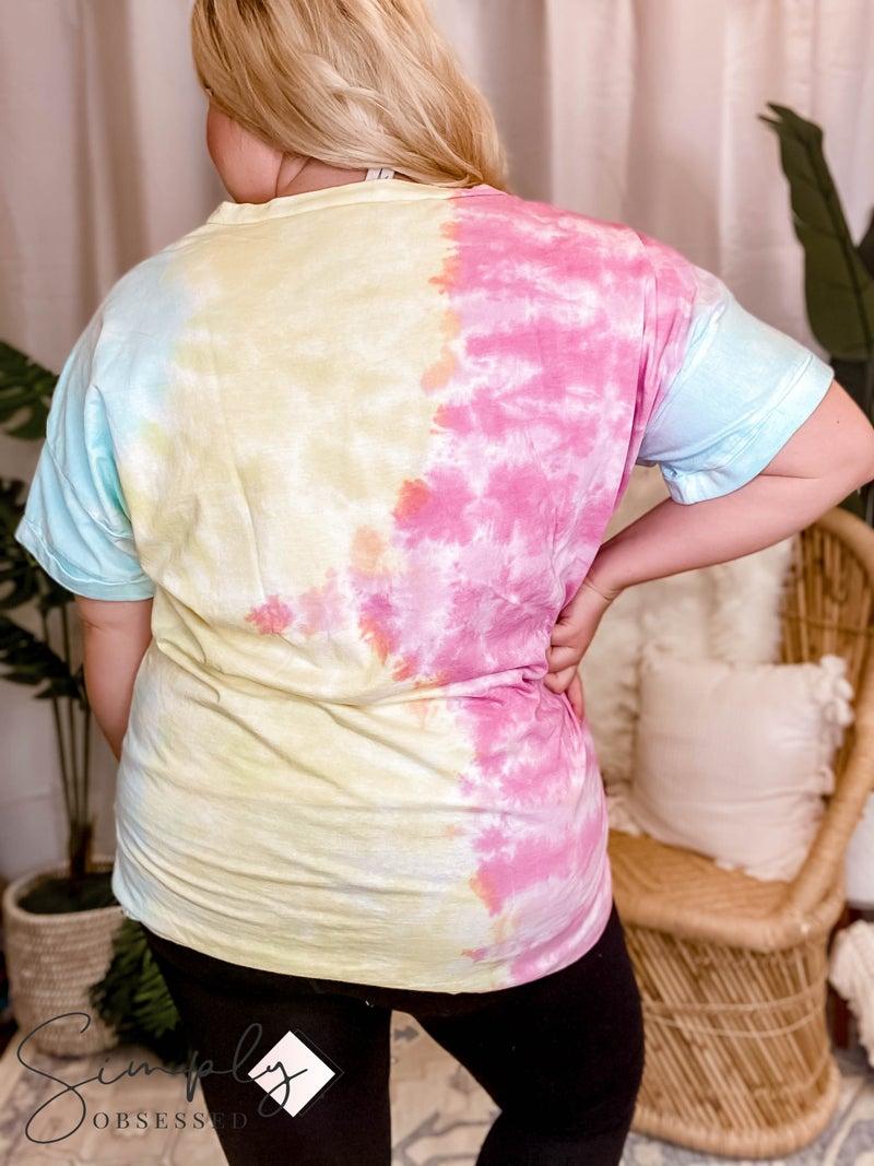 Sew In Love - Tie Dye Short Sleeve Top