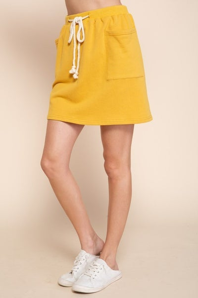 Mittoshop - French terry casual skirt