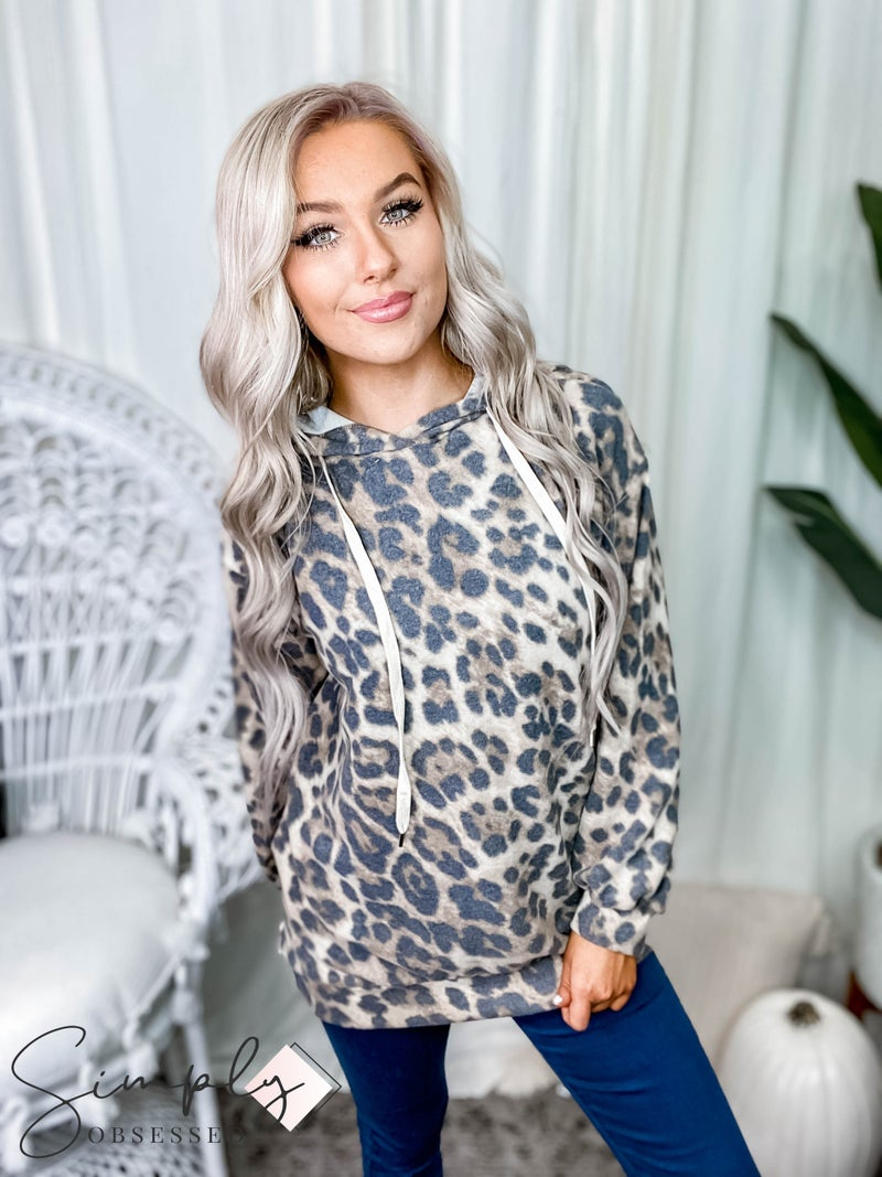 White Birch - Leopard print hoodie(All Sizes)