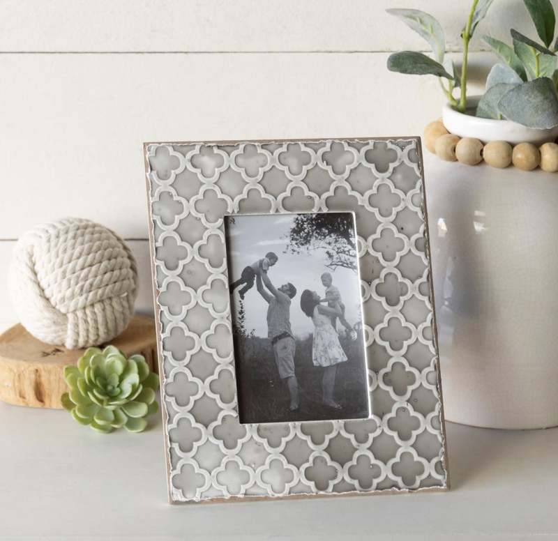 VIP ATL - Tone Pattern Embossed Texture Frame 4x6