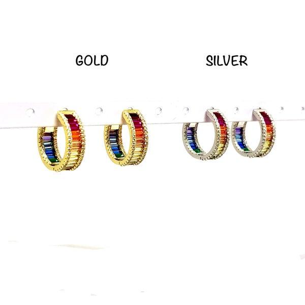 Multi-Color Post Earrings