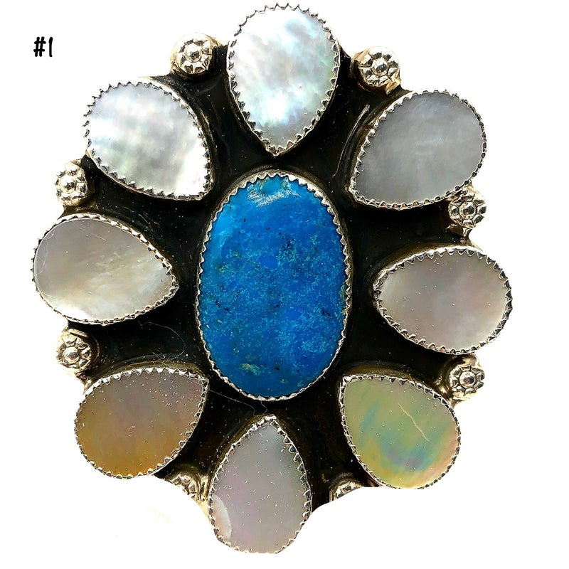 M & S - Turquoise W/Mother of Pearl Ring