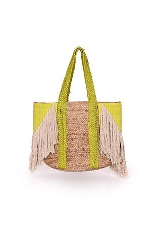 America & Beyond - Cove green jute tote