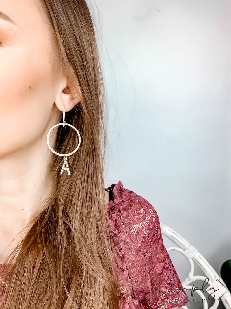 TPJ - Gold Initial Hoops