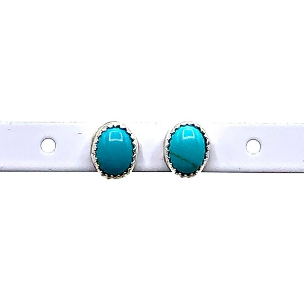 M & S - Turq Stud Earrings